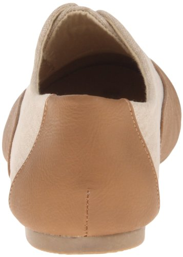 Dirty Laundry Off the Wall Femmes Toile Chaussure Plate Tan-Nude