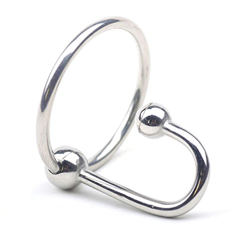 eeddoo® Penisring & Cockring aus Metall Silber Sperma Stopper Eichel