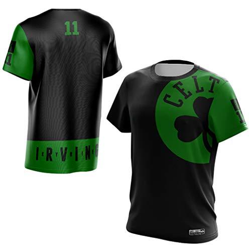 new arrival c8d48 4cc25 Boston Celtics Kyrie Irving #11 Camiseta Hombres Jóvenes Name &Number  Deportes Baloncesto Moda Camisetas Tee Tops