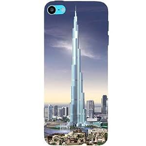 Casotec Burj Dubai Design Hard Back Case Cover for Apple iPod Touch 6th Generation