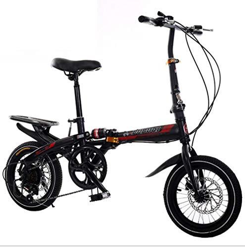 TX Bici Piega 20'4.0 Fat Tire ebike Pieghevole in Alluminio Potente Bicicletta Mountain/Neve/Spiaggia,Black,16inch