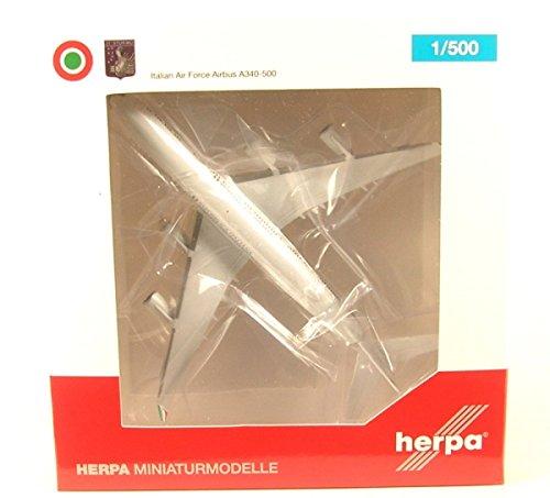 Herpa 530385Italian Air Force Airbus A340-500-31° Stormo, CIAM Pino AB-I di TALY, Aereo