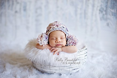 Double Puff Earflap Hat Knit Pattern - All Baby, Toddler, Child, Teen and Adult Sizes (Knit Womens Beanie)