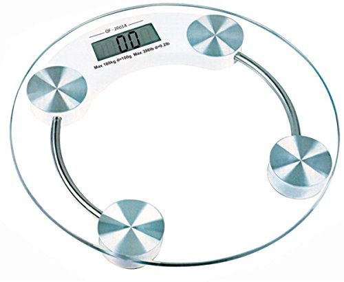 Webelkart Thick Tempered Glass Electronic Digital Personal Bathroom Health Body Weight Weighing Scale (Round)