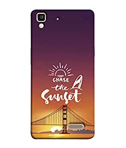 PrintVisa Designer Back Case Cover for Oppo R7 :: Oppo R7 Lite (Chase The Sunset Lovely Design)