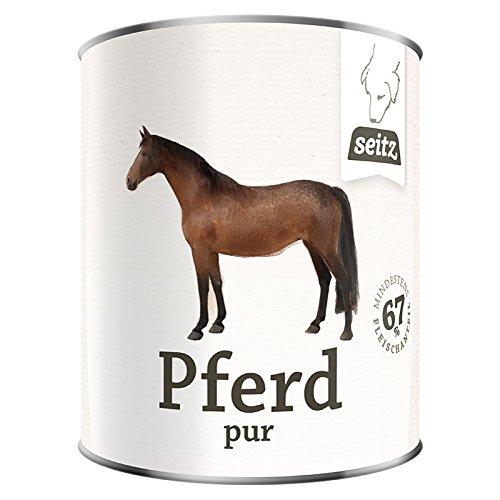 Reinfleisch - Dosen * Pferd pur * (6x 800g) Dosenfutter für Hunde / Barf aus der Dose / Hundefutter aus Pferdefleisch / Dosenfleisch / Barf Paket