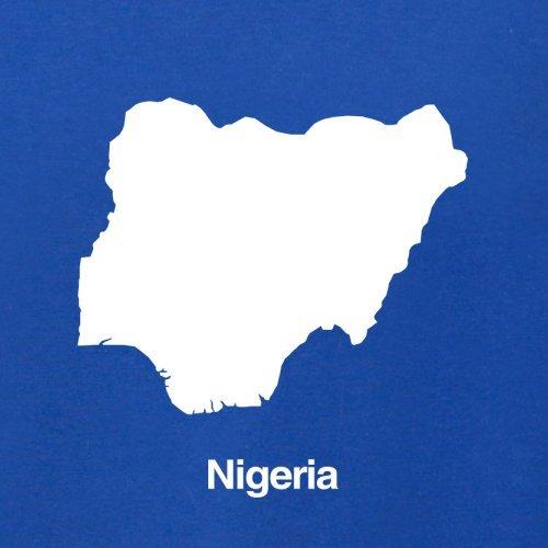 Nigeria / Bundesrepublik Nigeria Silhouette - Damen T-Shirt - 14 Farben Royalblau