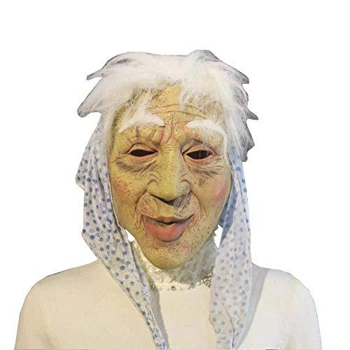 Spuk Alten Kostüm - Hässliche Halloween Scary Masken Latexmaske Runzlige Alte Frauen Hexenmaske Oma Kostüm Prop Karneval Party