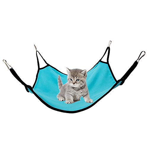 SENZEAL Hängematte Katze Frettchen Ratte Bett Katzenbetten Tragbar Katzenliege aus Flanell kleine Hund Hase