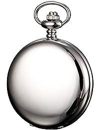 KS KSP033 - Reloj de Bolsillo, Mecánico de Cuerda Manual, Analógico, Caja Plateada