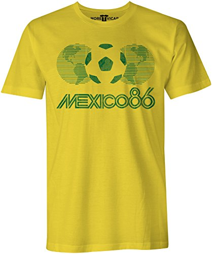 Mexico 86 Vintage T Shirt - Herren Football World Cup T Shirt (World Mexico Cup)