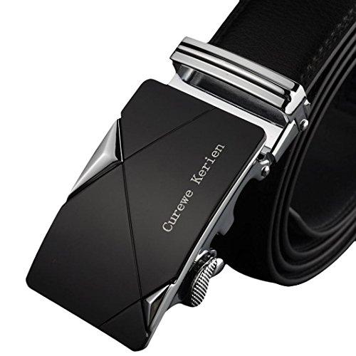 Vovotrade® Gli uomini di cuoio automatico Fibbia Cinture di lusso vita da cintura Cintura