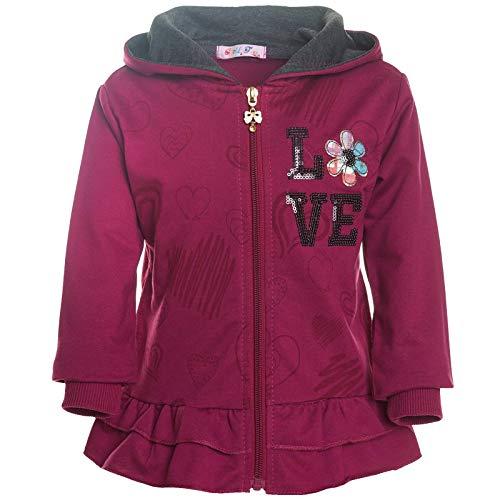 Child Face Mädchen Kinder Hoodie Kapuzen-Pullover Pulli Jacke Sweater Sweat-Jacke 30156 Violett 134 -