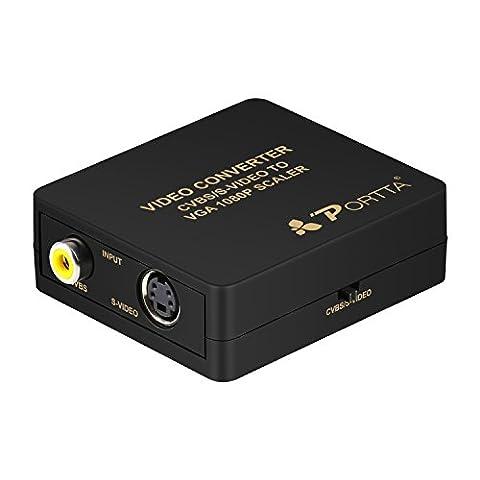 Portta VGA Converter Up-scaler AV or CVBS Composite S-Video to
