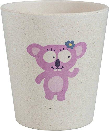 JACK N 'JILL - Zahnbecher - Mit Koala Design - Für Kinder - Hygienisch und biologisch abbaubar - Hergestellt aus Bambus und Reisschalen - Aquafresh Tooth