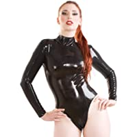 Skin Two Clothing Women's Baroness Bodysuit Top Perfect Curves Latex Rubber