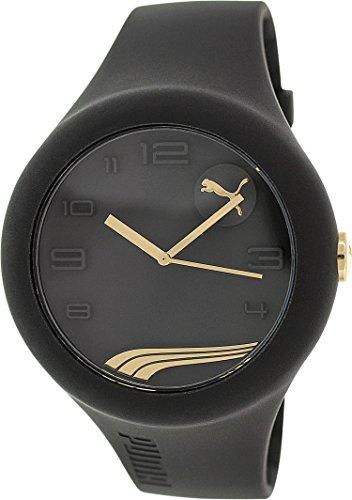 Puma para hombre PU103211008forma XL oro negro reloj