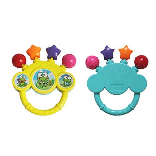 Elecenty Lernspielzeug Baby Bell Spielzeug Greifling und Rassel Geburtstagsgeschenk Kinder Spielzeugtiere läuten Glocken Hand Glocken Musical Baby Soft Toys Entwicklungs Rassel Bett Kinder (17cm, zufällige Farbe)