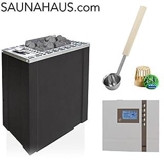 Saunaofen EOS Bi-O-Filius incl. Econ H2 Saunasteuergeraet Bio EOS, inkl. Feuchterfüller EOS F2 und exklusive Edelstahl-Saunakelle von ARTVION (4.5 kW)