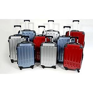 c47c9051e 3 teiliges oder Einzeln M L XL Polycarbonat/ABS Trolley Koffer Bordcase Set  Hartschale Reisekoffer Kofferset Zwillingsrollen TSA Schloß