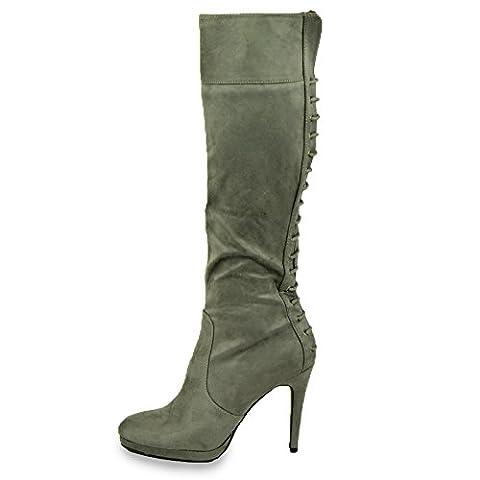 Cucu Fashion , Sandales Compensées femme - gris - gris, 35.5