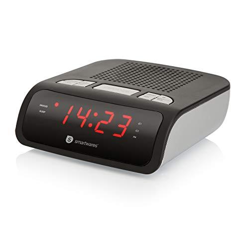 Smartwares CL-1459 - Reloj despertador con dos alarmas, radio FM