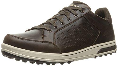 Skechers 2017 GO GOLF Drive 2 -LX Premium Leather Mens Golf Shoes Chocolate9UK