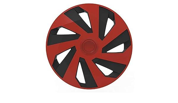 VERSACO Rapiderb15/Rapide de Jantes Rouge//Noir 38,1/cm/ 38,1/cm Lot de 4 /Ajustement Universel /Lot de 4/