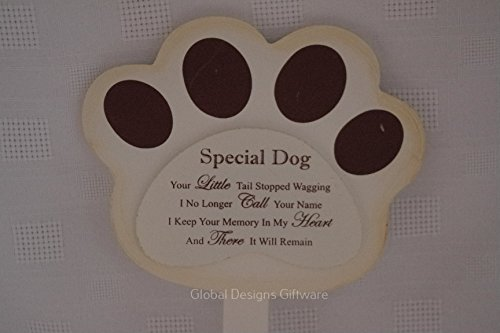 Special Dog Grave Marker Stick Stake Memorial Tribute Your Little Tail Stopped Wagging F1625 2
