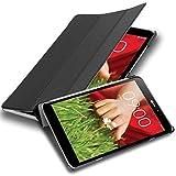 Cadorabo Custodia Tablet per LG G Pad 8.3 V500 in Nero Satin - Copertura Protettiva Molto Sottile di Similpelle in Stile Libro con Auto Wake Up e Funzione Stand