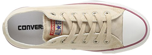 Converse Chuck Taylor All Star Wash Ox, Baskets mode femme Beige (Blanc Cassé)