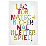 artboxONE Poster 90x60 cm Für Kinder Lach+TOB Hochwertiger Design Kunstdruck - Bild Für Kinder von OHKIMIKO