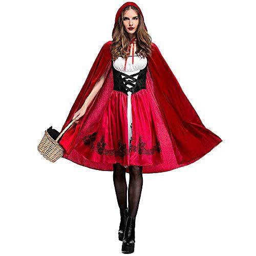 mpire Rotkäppchen Kostüm Adult Cosplay Kleid Party Pack Rotkäppchen Nachtclub Queen Kleid,Red,M ()