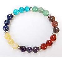 Bracelet 7 Chakras, perles naturelles