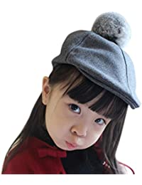 IBLUELOVER Boina niño Niña niño Gorra Plate Gorros Invierno Caliente de  Lana Sombrero clásico Artista francés b3290449ade