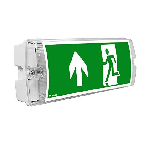 Notleuchte LED IP65 Notbeleuchtung Rettungszeichenleuchte Fluchtwegleuchte Notlicht Brandschutzzeichen Rettungszeichen (Pfeil nach links) -