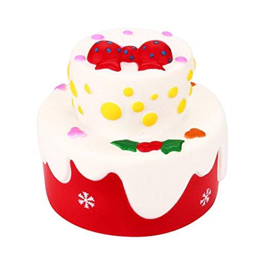 Jumbo Stress Relief Spielzeug für Erwachsene Kinder mingfa Cute Cat Brot Bear Weich Cartoon Kuchen Geburtstag Kuchen, Squeeze Dekompression Spielzeug (Lustige Halloween-lebensmittel Cartoons)