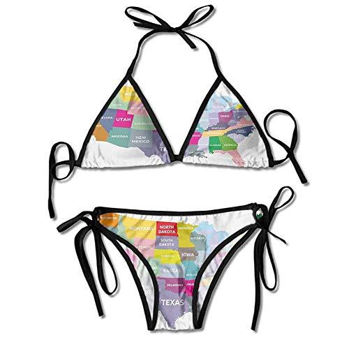 378c63c9d9d2 Custom Bikini Veil for Bride with Name of States in Printing Bikini for  Women
