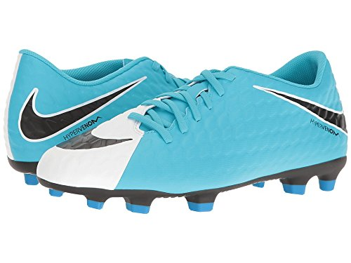 Nike Hypervenom Phade Iii Fg, Scarpe da Calcio Uomo White/Black/Photo Blue/Chlorine Blue