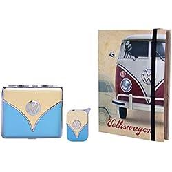 Poly - Coffret livre cadeau Etui à cigarettes VW Volkswagen et Briquet effet miroir Van