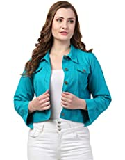 FUNDAY FASHION Self Design Plan Women Cotton Jacket