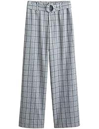 72ff378395 MANGO Women s Belt Straight-fit Trousers 43070716 Grey
