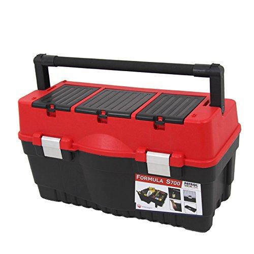 Kunststoff Werkzeugkoffer Formula S ALU 700, 60x33cm Kasten Werzeugkiste Sortimentskasten Werkzeugkasten Anglerkoffer - 4