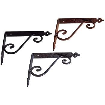 Staffe Per Mensole In Ferro.Staffe E Supporti Per Mensole 10pz Reggimensola Ferro Battuto Mm
