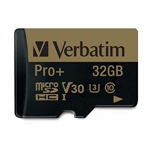 Verbatim pro+ flash scheda microsd 32gb, nero