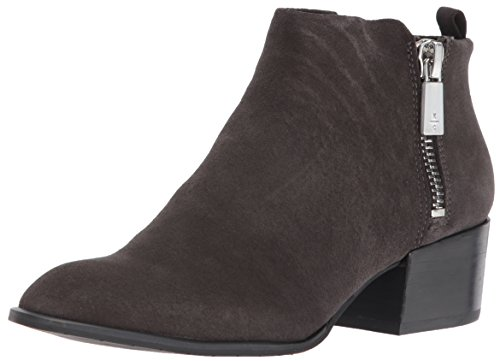 Kenneth Cole New York Women's Addy Western Bootie Double Zip Low Heel Suede Ankle, Asphault, 5 M US - Western Booties