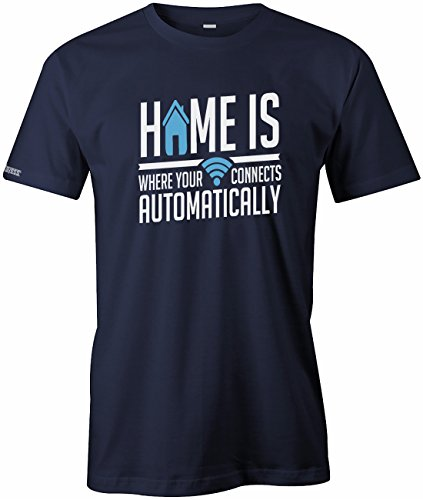 Home is Wher Your WLAN Connects Automatically - Herren - T-Shirt by Jayess Gr. S bis XXXL Navy