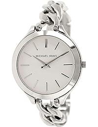 Michael Kors MK3279 - Reloj para mujeres, correa de acero inoxidable color plateado