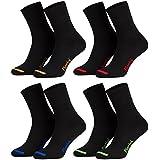 Piarini - 8 pares de calcetines unisex - Sin elástico - Ajuste cómodo - Caña de elastano y piqué