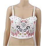 Damenstickpailletten Nagelperlen Wrapping Chest Nightclub Bar Sling Bra Vest,White,L